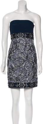 Sue Wong Strapless Embellished Dress w/ Tags