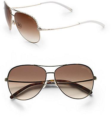 Jimmy Choo Mali Aviator Sunglasses