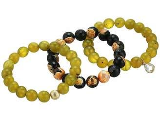 Dee Berkley Growing Agate Gemstone Beaded Bracelet Set