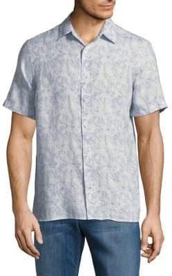 Black & Brown Black Brown Printed Short-Sleeve Linen Shirt
