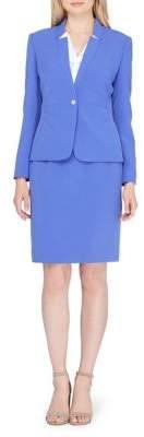 Tahari Arthur S. Levine Stretch Crepe Jacket and Skirt Suit