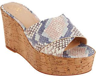 Vince Camuto Cross Band Wedges -Kessina