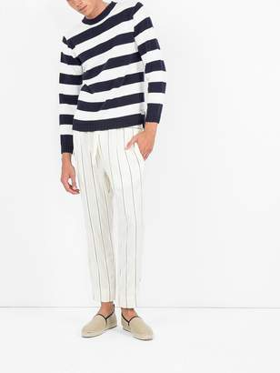 Comme des Garcons Junya Watanabe Man Striped fitted sweater