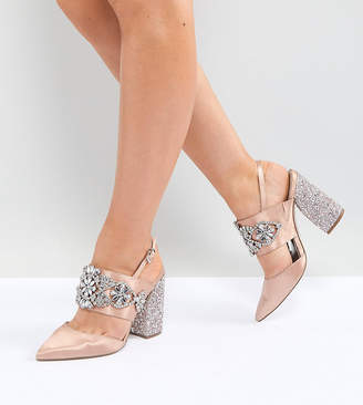 Asos Design PERFECT COMBO Wide Fit Bridal Embellished Heels