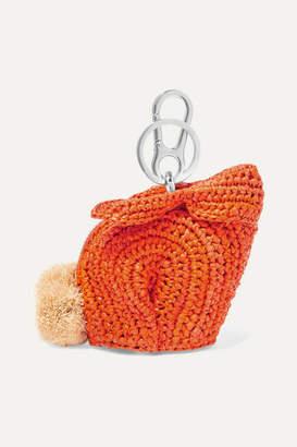 Loewe Bunny Raffia Bag Charm - Orange