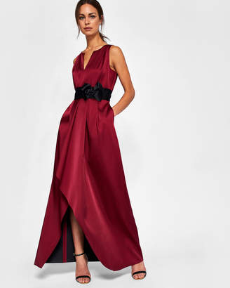 Ted Baker CASTALE Bow detail wrap maxi dress