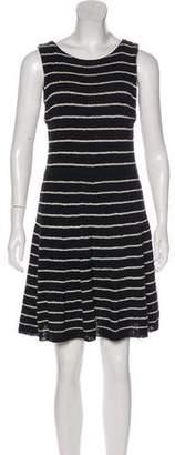 Alice + Olivia Striped Knit Sleeveless Mini Dress