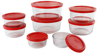 Pyrex Simply Store Nesting Glass 8 Container Food Storage Set