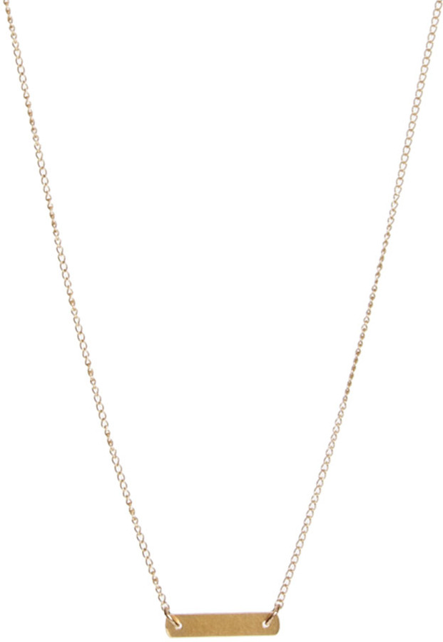 Dogeared Keep It Simple Bar Necklace
