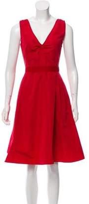Miu Miu Ruched A-Line Dress