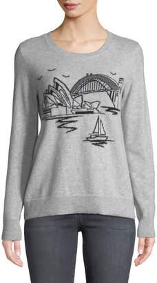 Neiman Marcus Cashmere Sydney Crewneck Sweater