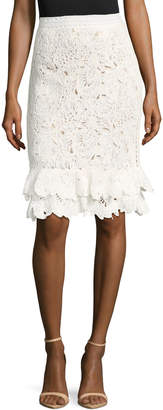 Oscar de la Renta Women's Ruffle Cotton Skirt