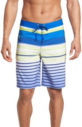 Men's Vineyard Vines Neon Stripe Board Shorts $89.50 thestylecure.com