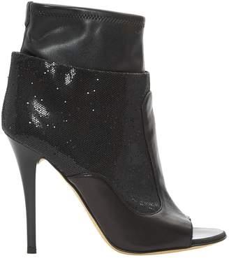 Giuseppe Zanotti Leather open toe boots