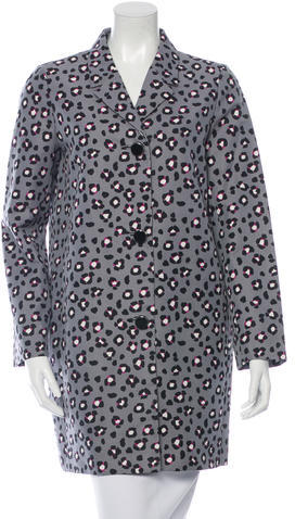 Kate Spade Kate Spade New York Leopard Print Knee-Length Coat w/ Tags