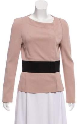 Les Copains Collarless Knit Jacket