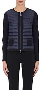 Moncler Women's Down-Quilted Cotton Sweater-Navy