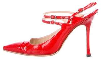 Manolo Blahnik Pointed-Toe Patent Leather Pumps
