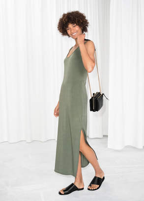 And other stories Scoop Neck Midi Dress