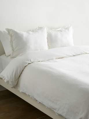 Melange Home Linen-Blend Ruffle Duvet Set