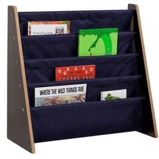 Wildkin Sling Book Shelf - Espresso w/ Blue