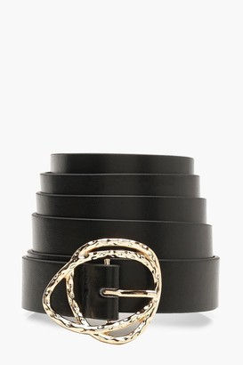 boohoo Plus Gold Buckle Boyfriend Belt
