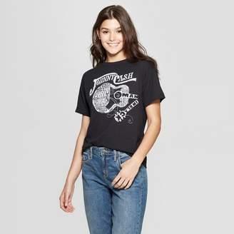 Johnny Cash Women's Johnny Cash Short Sleeve T-Shirt - (Juniors') - Black