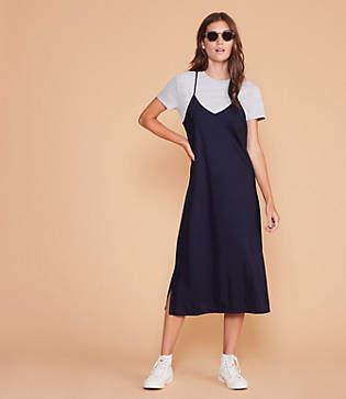 16a7ebfb Lou & Grey Fluid Twill Racerback Slip Dress