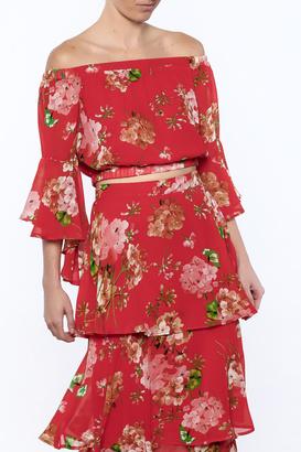 A. Calin Floral Top $22.99 thestylecure.com