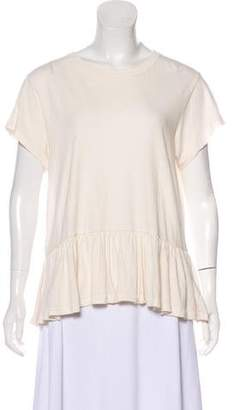 The Great Peplum Short Sleeve Top