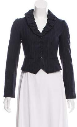 Rebecca Taylor Wool Pinstripe Blazer