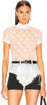 Alexander Wang Lace Short Sleeve Top