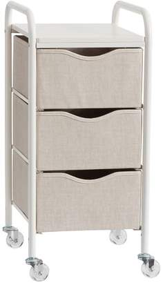 Pottery Barn Teen Ready-to-Roll Storage Cart, 3-Drawer, Linen
