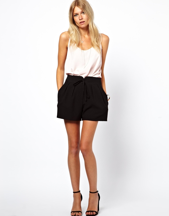 ASOS Shorts with Wrap Tie Waist