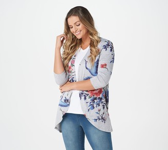 Factory Quacker Printed Cardigan with Bling