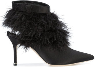 feather-trimmed Oterala pumps