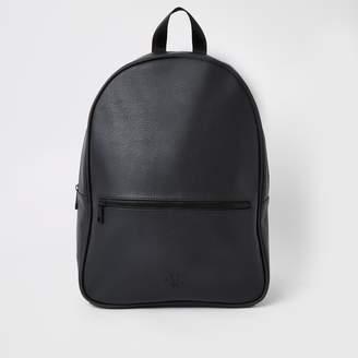 River Island Mens Black RI backpack
