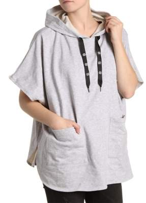 Steve Madden Edgy Hooded Poncho