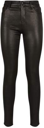AG Jeans The Farrah Skinny Leather Jeans
