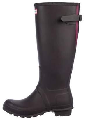 Hunter Rubber Rain Boots Brown Rubber Rain Boots