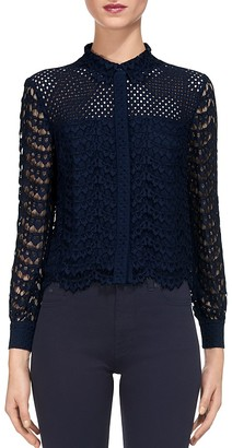 Whistles Penny Lace Crop Shirt $280 thestylecure.com