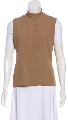 Halston Mock Neck Lightweight Vest