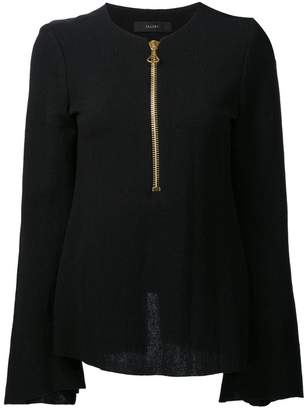 Ellery zipped neck blouse