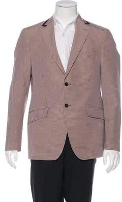 Etro Silk-Blend Check Blazer