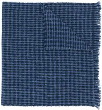 Hackett check knit scarf