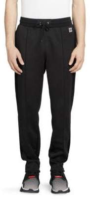 Givenchy Technical Jersey Velvet-Stripe Sweatpants
