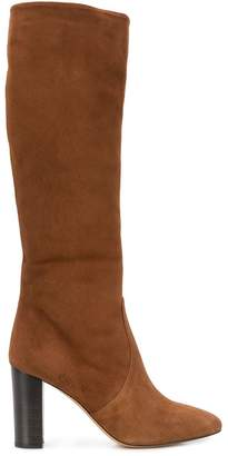 The Seller round toe knee-high boots