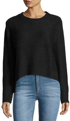 Cheap Monday Long-Sleeve Crop Sweater, Punk Black $59 thestylecure.com