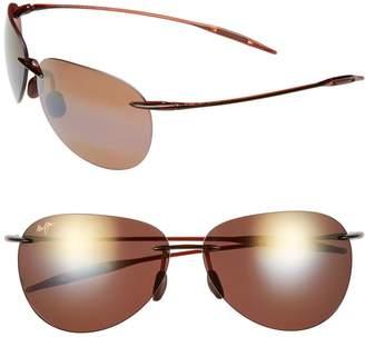 Maui Jim Sugar Beach 62mm PolarizedPlus2(R) Rimless Sunglasses