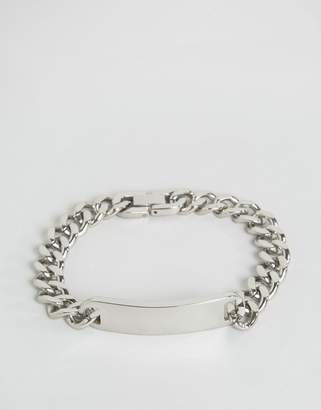 Seven London id chain bracelet in silver exclusive to asos